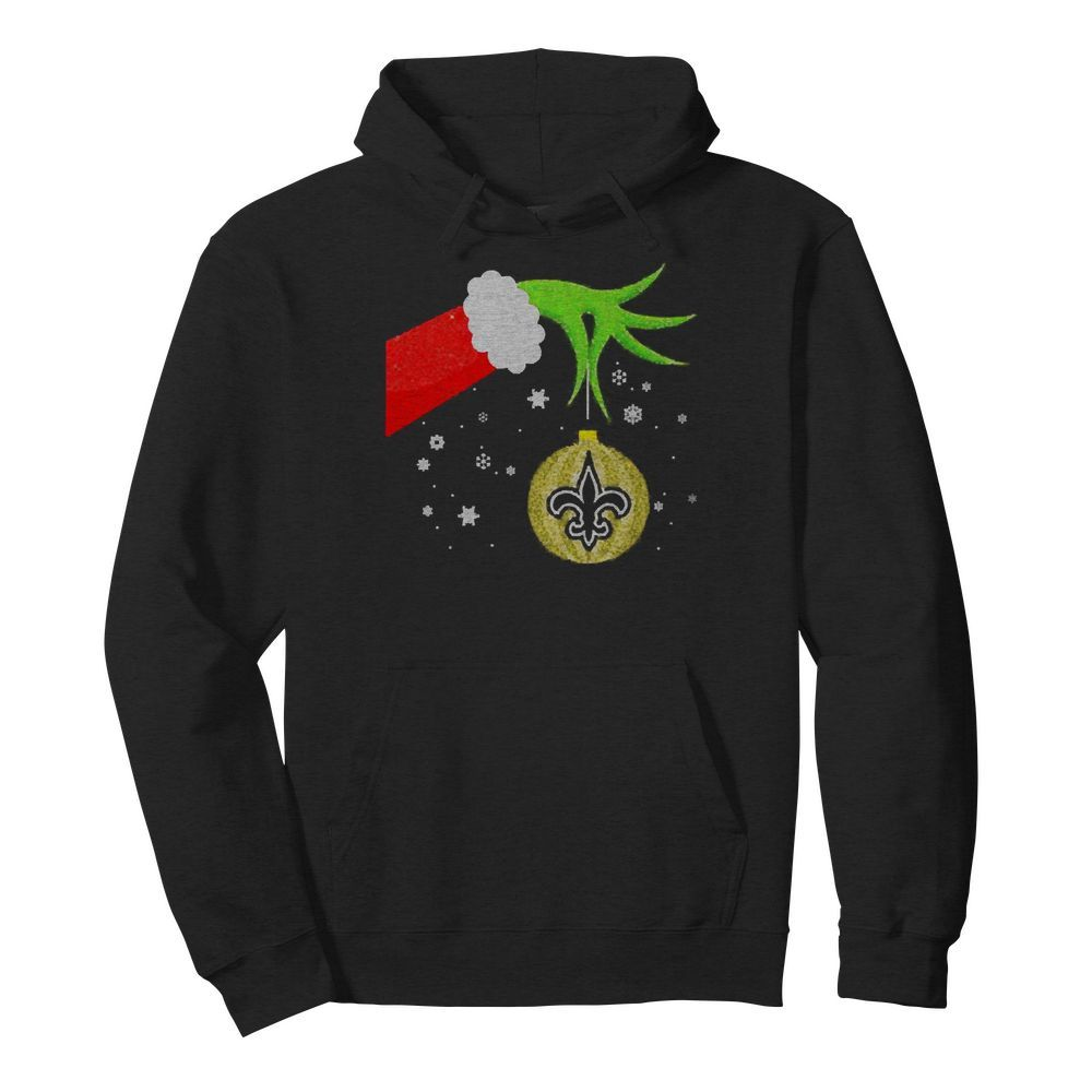 The Grinch Christmas Ornament New Orleans Saints  Unisex Hoodie