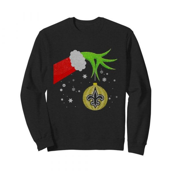 The Grinch Christmas Ornament New Orleans Saints  Unisex Sweatshirt