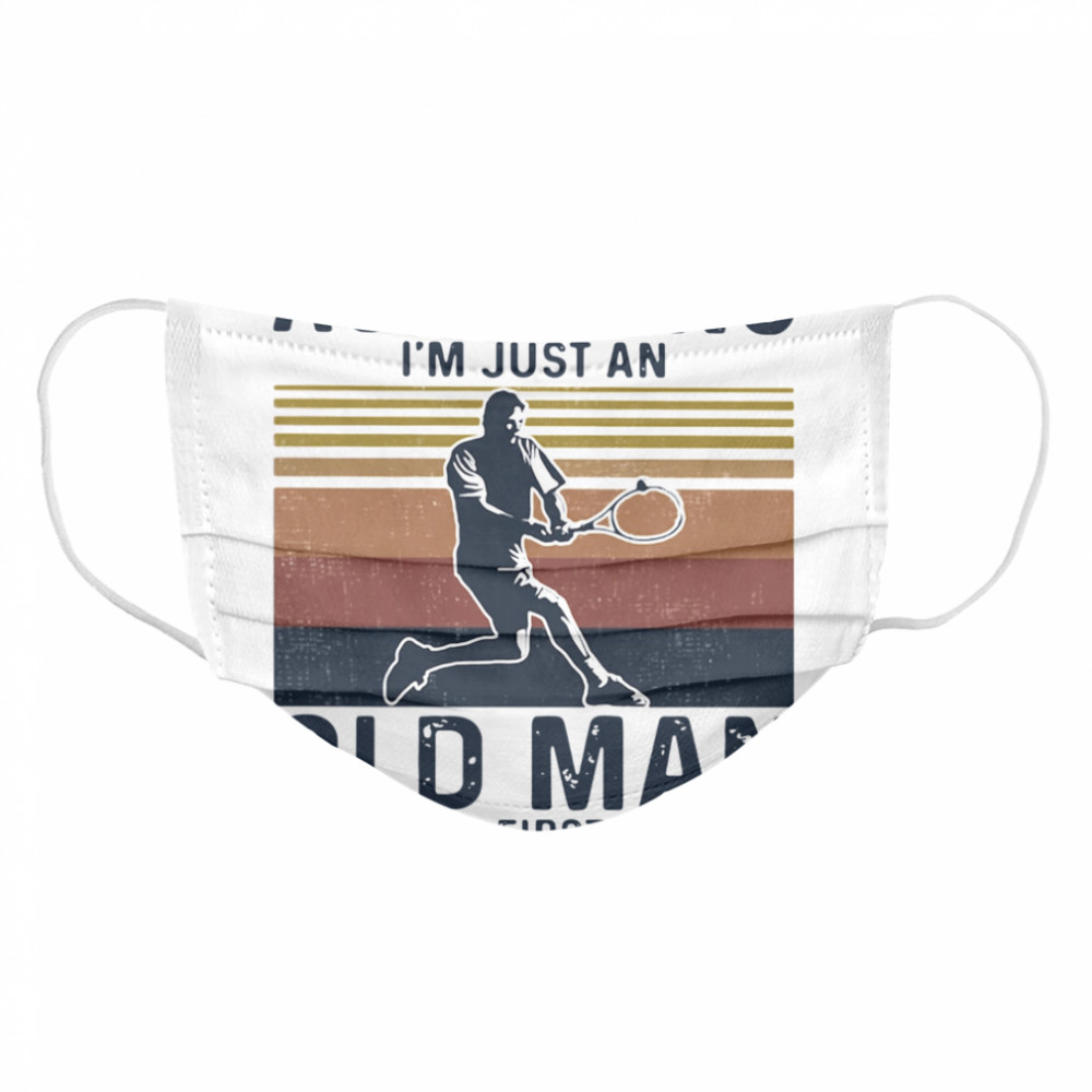 First Mistake Tennis Vintage  Cloth Face Mask